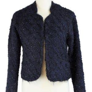 SANCTUARY Boucle Polyester Tweed Blazer  Jacket